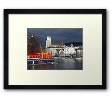 Dull weather day Framed Print