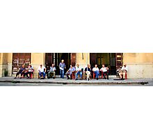Sicilians in a row Photographic Print
