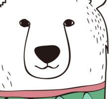 Let It Snow Polar Bear Sticker