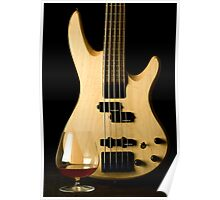5 String Bass Guitar Poster