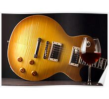 Les Paul and Wine Poster