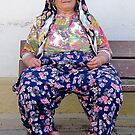 Turkish Village Woman In Traditional Clothing by taiche
