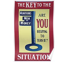 The key to the situation Are you helping to turn it 290 Poster