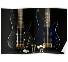 Two Bass Guitars and Tequila Poster