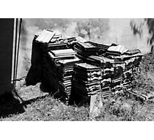 Roof tiles, Tuscany, Italy Photographic Print