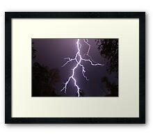 Lightning up close Framed Print