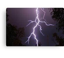 Lightning up close Canvas Print