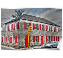 Corner of Shirley Street and Parliament Street in Nassau, The Bahamas Poster