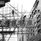 Scaffolding in Hong Kong by GayeL Art