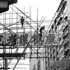 Scaffolding in Hong Kong by GayeL Art