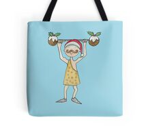 Christmas Strongman  Tote Bag