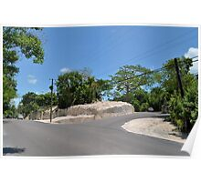 Johnson Road and Eastern Road in Nassau, The Bahamas Poster