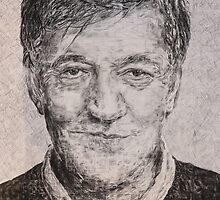 Portrait of Stephen Fry by PoppyandDogwood
