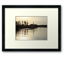 Sunset on Bear Creek 9-25-2012 Framed Print