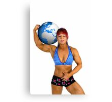 Pin up poster of Female Atlas Canvas Print