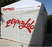 Enclosed Road Show Tent Photographic Print
