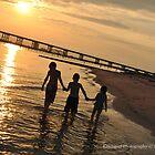 My kids walking in the sunset by Kajungurl
