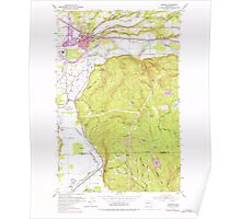 USGS Topo Map Washington State WA Monroe 242375 1953 24000 Poster