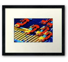 New York Cabs Framed Print