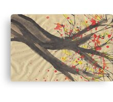 Splatter Blossoms II Canvas Print