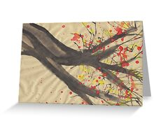 Splatter Blossoms II Greeting Card