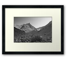 Elbow lake glacier Framed Print