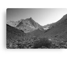 Elbow lake glacier Canvas Print