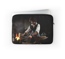 Old style manual labour Blacksmith Middle Ages Period Laptop Sleeve