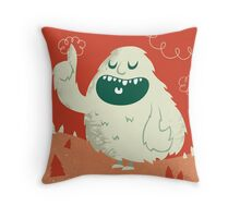 the Wise Monster Throw Pillow