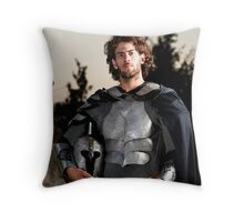 A knight in shining armour  Throw Pillow