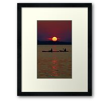 Saturn Setting Framed Print