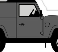 A Graphical Interpretation of the Land Rover Defender 90 Hard Top Sticker