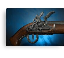 ancient flintlock pistol Canvas Print