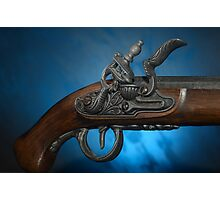 ancient flintlock pistol Photographic Print