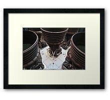 Saturn V engines Framed Print