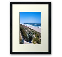 Furry Sand Dunes Framed Print