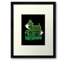 Haunted Victorian House Framed Print