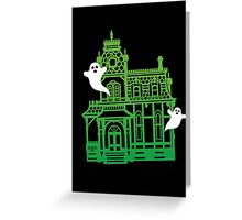 Haunted Victorian House Greeting Card
