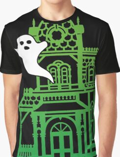 Haunted Victorian House Graphic T-Shirt