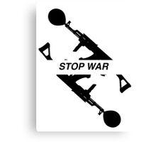 STOP WAR - b&w  Canvas Print