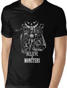 Believe In Monsters Mens V-Neck T-Shirt