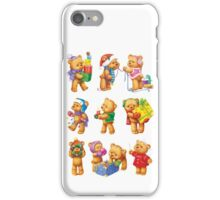 New Year Teddy Bears iPhone Case/Skin