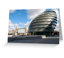 City Hall and Tower Bridge, London, UK Greeting Card