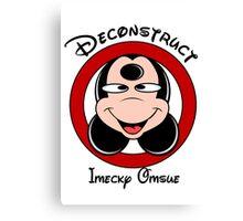Deconstruct Mickey Canvas Print