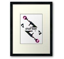 STOP WAR - Fashion campaign  Framed Print