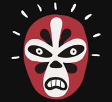luchador in red and black flower design by diabolickal plan