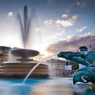 Trafalgar Square's Fountains by JzaPhotography