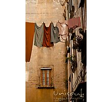 Hanging pale clothing Photographic Print