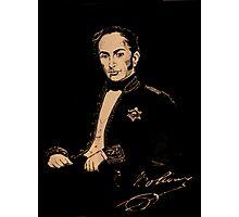 Portrait of Simon Bolivar Photographic Print