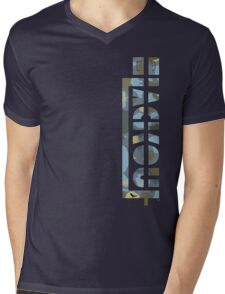 Blackout Clothing Robot Mens V-Neck T-Shirt